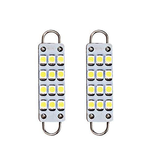 ESUPPORT - Bombillas LED de 44 mm, 12 SMD, color blanco