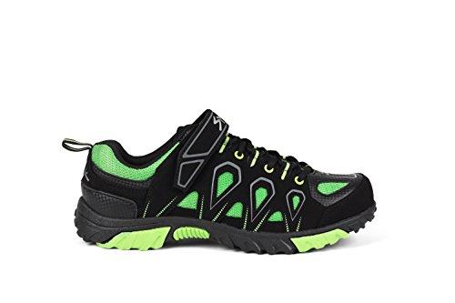 Spiuk Linze MTB - Zapatillas unisex, color negro / verde, talla 40