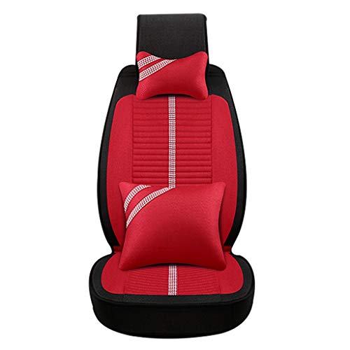 Auto Couverture de siège de Voiture Cartoon Couverture de siège de Voiture Four Seasons Universal Ladies Cushion Coussin entièrement enveloppé Accessoires (Color : Red A)
