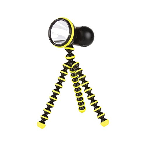 Joby Gorillatorch Adjustable and Flexible Tripod Flashlight, Yellow