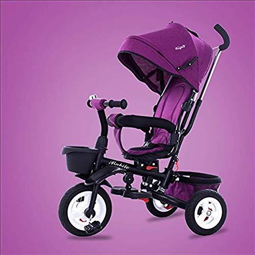Goquik kinderdriewieler 1-6 jaar oud lichtgewicht vouwwagen met uv-luifel, 6 kleuren beschikbaar