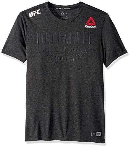 Reebok UFC Slim Fit Ultimate Jersey, Black, Large