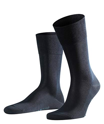 FALKE Herren Socken Tiago - 95{f0b535cd1068a9e014bec94fb4856c04bd9f178619c6477ae07b2c0ea6964514} Baumwolle, 1 Paar, Blau (Dark Navy 6370), Größe: 41-42