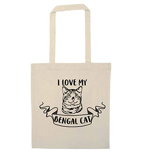 Flox Creative Tragetasche I Love My Bengal Cat, Beige - natur - Größe: Einheitsgröße