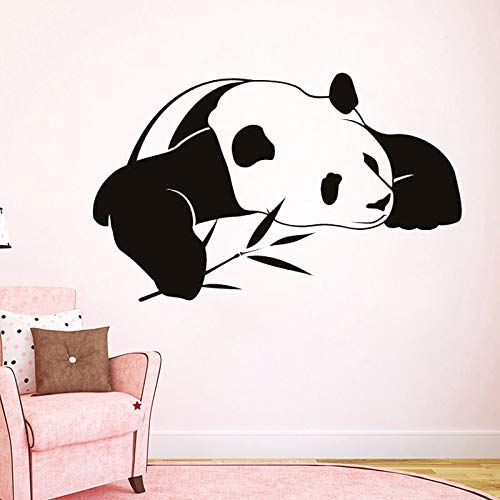 Tianpengyuanshuai Slappende Panda met bamboe muurkunst sticker schattig kinderkamer decoratie vinyl muursticker slaapkamer huis decoratie