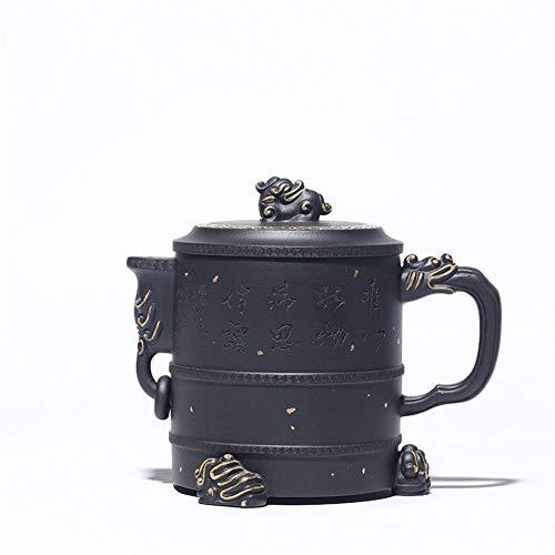 YYFUS Teapot Famous Handmade Dragons Supreme Pot Tea Teapot Tea cup Black Mud (Color : Black mud)