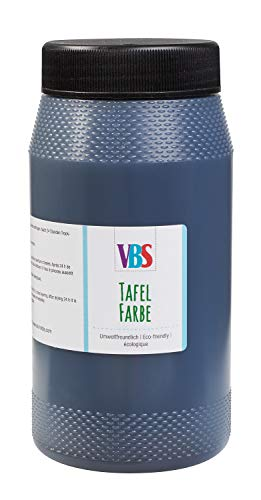 VBS XXL Tafelfarbe Schultafelfarbe Schwarz seidenmatt 1l oder 500ml Farbe Tafel für Kreide abwischbar Wandfarbe 500 ml
