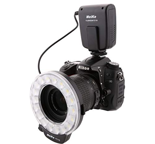 Meike FC-110 LED Marco Ring Flash per fotocamere Canon Nikon Pentax Olympus