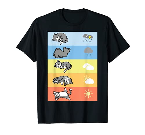 Divertido Traje De Dormir De Los Gatos Del Tiempo Para Camiseta