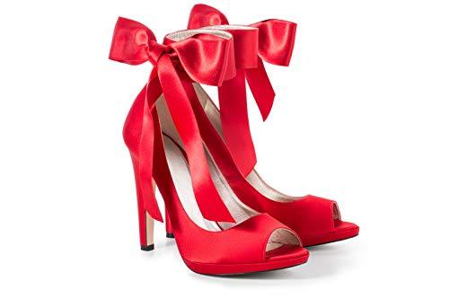 Amy Ors - Red Satin Stöckelschuhe für Männer (Numeric_42)