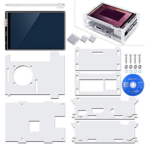 『Kuman Raspberry Pi ディスプレイ タッチスクリーン 3.5インチ ケース ヒートシンク Pi 3B 2B B A A B 用 SC11-JP』の3枚目の画像