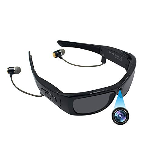 Bluetooth Sunglasses Camera, ZDMYING Full HD 1080P Wearable Glasses Camera Sport Design Video Recorder with UV Protection Polarized Lens