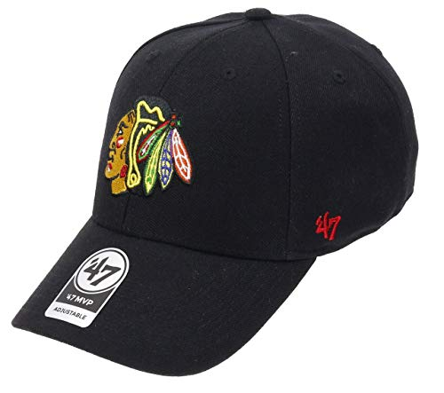 47 Brand - Chicago Blackhawks - Adjustable Cap - Mvp - Nhl - Black - One-Size