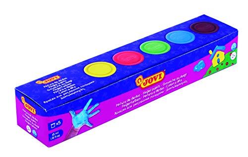Jovi - Pintura Dedos, Estuche 5 botes 35 mililitros, colores surtidos (540)