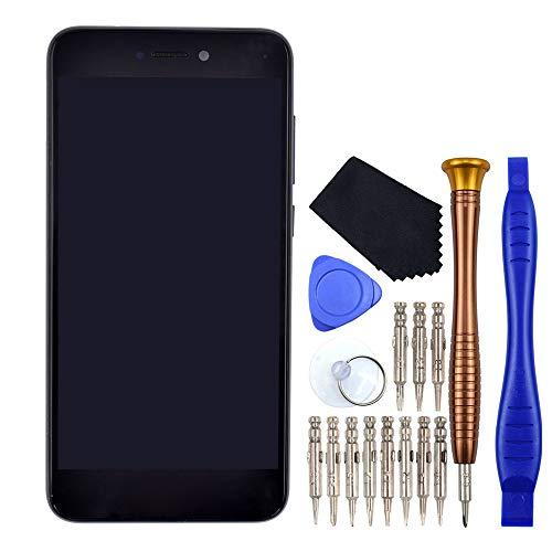 VEKIR Schwarz P9 Lite 2017 Digitizer Touch Bildschirm LCD-Display Reparatur mit Displayrahmen Ersatz für Huawei P8 Lite 2017 P9 Lite 2017 Nova Lite GR3 2017 PRA-TL10