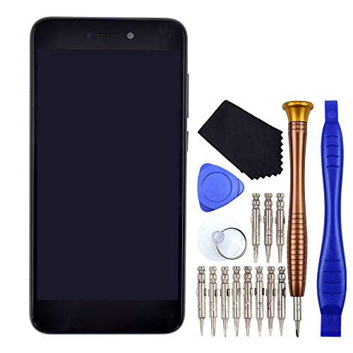 Negro Honor 8 Lite Reparación de la pantalla LCD de la pantalla táctil del digitalizador con marco de pantalla reemplazo compatible con Huawei P8 Lite 2017 P9 Lite 2017 Nova Lite GR3 2017 PRA-TL10