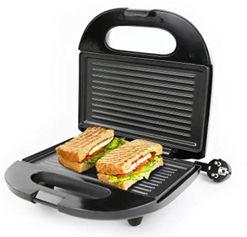 YGGY Électrique Sandwich Maker Mini Gril Panini Plaques De Cuisson Grille-Pain Multifonction Anti-Adhésif Petit Déjeuner Gaufrier Machine