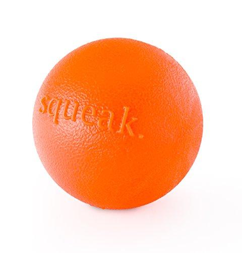 Planet Dog Orbee-Tuff Squeak - Quietsch-Ball für Hunde - Spielzeug zum Apportieren - Orange