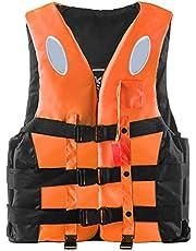 Zwemvest voor volwassenen, 360 graden reflecterend zwemvest drijfvermogen hulpmiddel Float Jacket Vest Snorkel Vest met fluitje Verstelbare gesp Kajak drijfvermogen Vest Floatage Jassen voor varen kajakkanoën