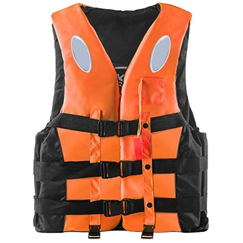 Chaleco Salvavidas, Kayak Chaleco Salvavidas para niños y Adultos, Chaleco Salvavidas Reflectante de 360 Grados con Silbato Hebilla Ajustable Chaleco de natación para Pesca Surfing Rafting