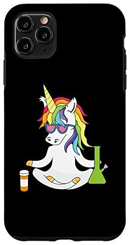 iPhone 11 Pro Max Weed Unicorn Kush 420 Marijuana THC Blunt Joint Bong Vape Case