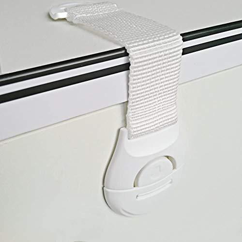 [12 Stück] Kindersicherung Schranksicherung,Canwn Weichem Band Schubladensicherung Türsicherung Kleinkinder Sicherungen für Tür Schränke Schubladen