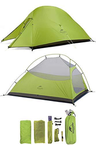 Naturehike CloudUp2アップグレード版 テント 2人用 コンパクト 自立式 簡単 超軽量 4シーズン 防風 防水 ...