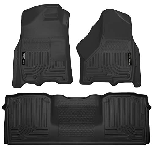 Husky Liners Fits 2010-18 Dodge Ram 2500/3500 Mega Cab Weatherbeater Front & 2nd Seat Floor Mats