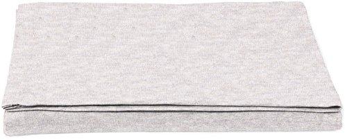 AmazonBasics - Sábana encimera, tejido jersey jaspeado, 240 x 320 + 10 cm - Gris claro