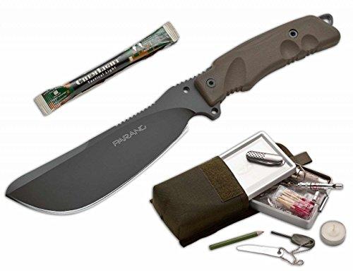 FKMD Messer Parang Fahrtenmesser, Braun, M