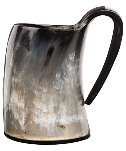 Handicrafts Home Piccolo Corno Bicchieri per Liquore per Bere Tazza Coppe Birra Birra Calice Vino Boccale Mead Medievale Iuta Fatto a Mano