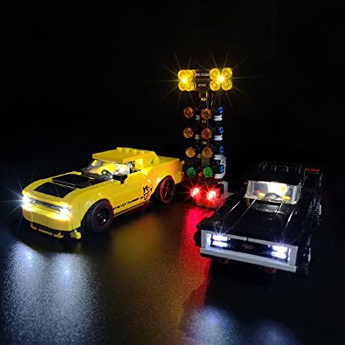 SESAY Juego de iluminación LED para Lego Speed Champions Dodge Challenger, compatible con Lego 75893 (sin juego Lego)