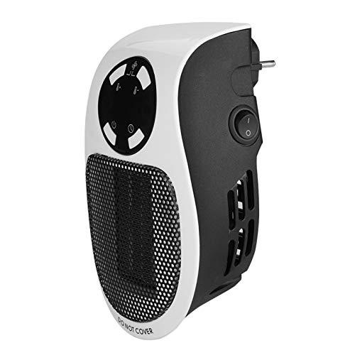 Calentador portátil pequeño portátil de 500 W, mini ventilador de calentador confiable, temporizador incorporado seguro, para precalentar la habitación
