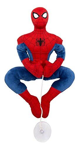 Joy Toy 1200048 Spiderman PlÃ11/10 4sch met zuignap voor het raam, auto, 25 cm Spider Man knuffeldier
