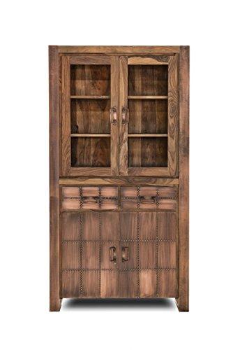 SIT-Möbel 2704-04 Vitrine Sahara, 2 glazen deuren, 2 houten deuren, 2 schuifladen, boven 2, onder 1 plank, circa 100 x 40 x 190 cm
