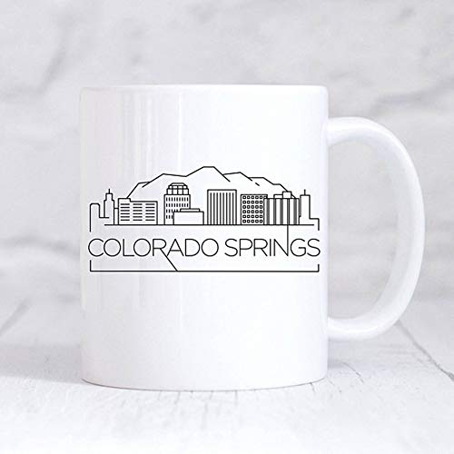 Colorado Springs City Skyline Mug/Housewarming Mug/New Home Mug/My Home City/United States Custom Mug/Home Gift Mug, Ceramic Coffee Mug 11oz