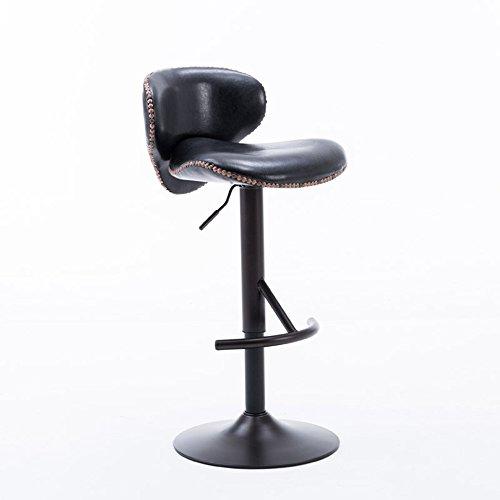 ZHANGRONG- Bar continental Chaise PU peut soulever 360degrees tournant cinq couleurs disponibles -Tabouret de canapé (Couleur : Noir)