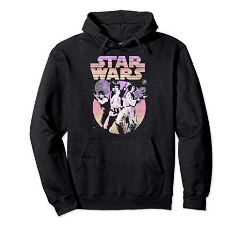 Star Wars Retro Gradient Group Poster Pullover Hoodie