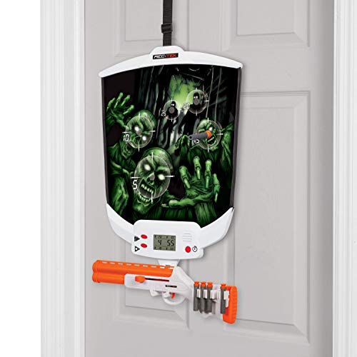 Rec-Tek Over The Door Zombie Hunting Game with LCD Scoring for Kids - Features Easy Assembly and Easily Adjustable Height - Complete with All Accessories