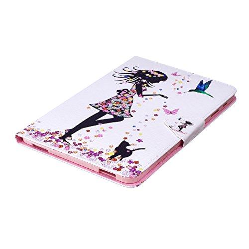 XTstore Hülle für Samsung Galaxy Tab A 10.1 2016 (SM-T580/T585), Mädchen Muster Schutzhülle Stoßfest Case Ständer Cover Magnetisch Leder Tasche mit Kartenfacher für Samsung Tab A6 10,1 Zoll