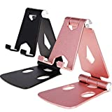 2Pack Cell Phone Stand for Angle Height Adjustable Desk Sturdy Aluminum Metal Phone Holder for iPhone,Ipad, Mobile Phone, All Android Smartphone,Desktop