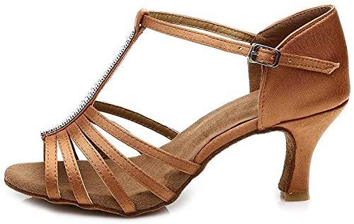 SWDZM Mujer Zapatos de Baile/Estándar de Zapatos de Baile Latino Satén Ballroom modelo-ES-227