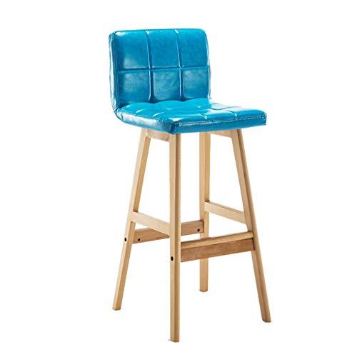 Taburetes de Muebles de Entretenimiento-CJiaJ Taburete de bar de madera maciza, alto Superficie de taburete de soporte de madera maciza Mesa de comedor Silla de escritorio Altura de 68 CM