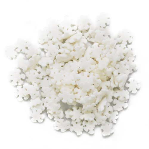 Bakery Crafts DMC27280 Decorating Edible Cake and Cookie Confetti Sprinkles, Winter White Snowflakes, 2.4-Ounce
