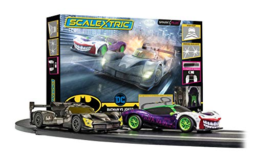 Scalextric Spark Plug - Batman vs Joker Slot Car Racing Set