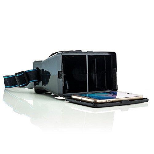 Saxonia Virtual Reality 3D-Brille Universal VR Virtuelle Realität Headset Gaming Video für Handy/Smartphone Apple iPhone, Samsung Galaxy, Sony Xperia und viele mehr