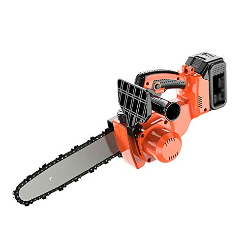 IRi Mini Chainsaw, Cordless Electric Protable Chainsaw, with Brushless Motor, One-Hand 2.69Kg Lightweight, Pruning Shears Chainsaw for Tree Branch Wood Cutting (Orange)