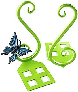 Yiherone 1 Pair Metal Bookends Family Office School Book Craft Originative Vintage Butterfly Decoration(Black) New (Color : Green)