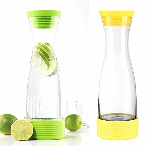 HI 13082 Wasserkaraffe Karaffe Saftkrug Krug aus Glas mit Kühlakku 1,25L