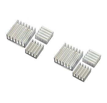 ヒートシンクの裏面に両面テープが付着しているので、簡単にICに固定することができます 2 x小サイズ8*8*4mm  / 1 xビッグサイズ(14*14*6mm); 1個14*14*6mmの; 2個8*8*4mmの アルミニウムのヒートシンクは、電源のMOSトランジスターに使用します Raspberry Pi Model B+はスイッチング電源に変更されたため、アルミニウムのヒートシンクを使用する必要はありません パッケージが含まれます: 6 X アルミニウムヒートシンク Raspberry P...